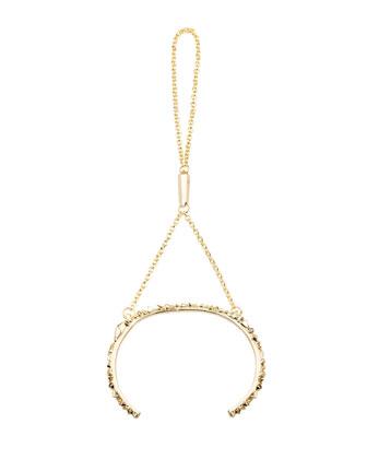 Yasmin Hand Chain, Gold Plate