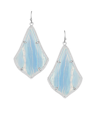 Alexandra Drop Earrings, Blue Lace Agate