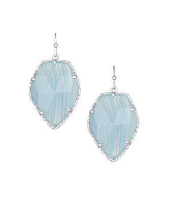 Corley Drop Earrings, Blue Lace Agate