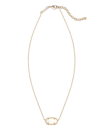 Elisa Pendant Necklace, White