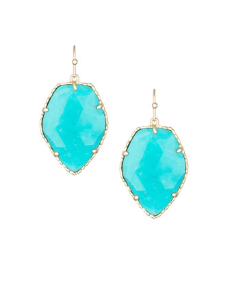 Corley Earrings, Turquoise