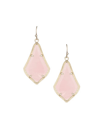 Alex Rose Quartz Earrings, Rose