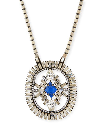 Olivia Crystal Pendant Necklace