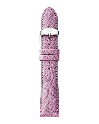 16mm Saffiano Leather Strap, Pastel Purple