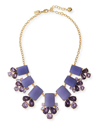 glitzy spritz statement necklace, lilac