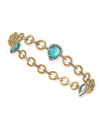 Amazonite Elements Bangle Bracelet