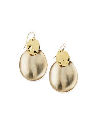 Vert d'Eau Liquid Chip Dangle Earrings