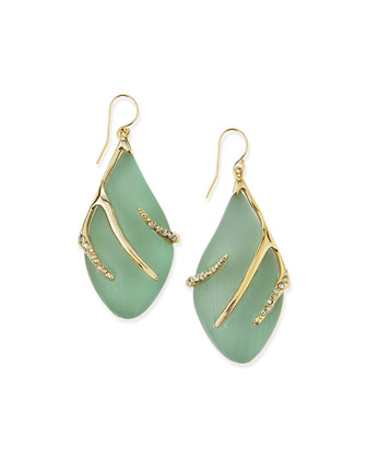 Vert d'Eau Lucite Sabre Earrings