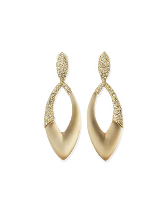 Asymmetric Marquise Lucite Clip-On Earrings