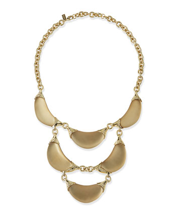 Lucite Crescent Statement Necklace