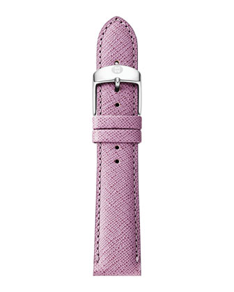 20mm Saffiano Leather Strap, Pastel Purple