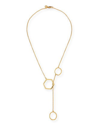 Geo Golden Lariat Necklace