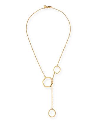 Geo Golden Lariat Necklace