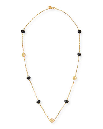 Evie Dipped-Pearly Rosary Necklace