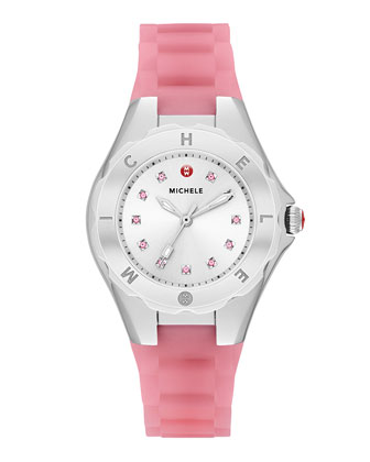 Tahitian Jelly Bean Petite Topaz Watch, Pink