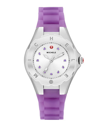 Tahitian Jelly Bean Petite Topaz Watch, Purple