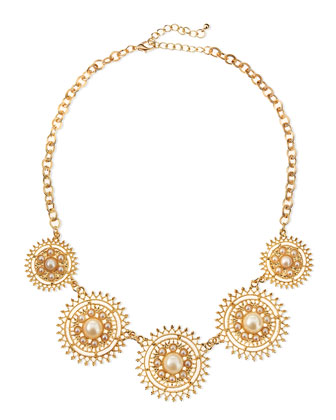Solar Pearly Golden Necklace