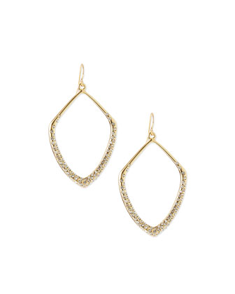 Crystal Open Drop Earrings