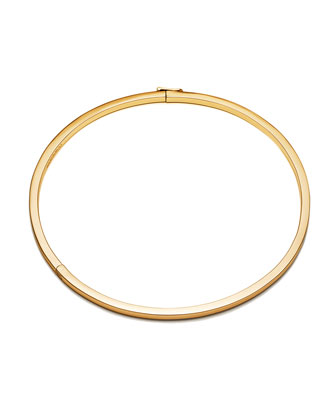 Cuboid Plated Brass Collar Necklace