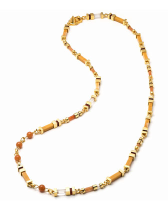 Plinth Mixed-Stone Long Necklace