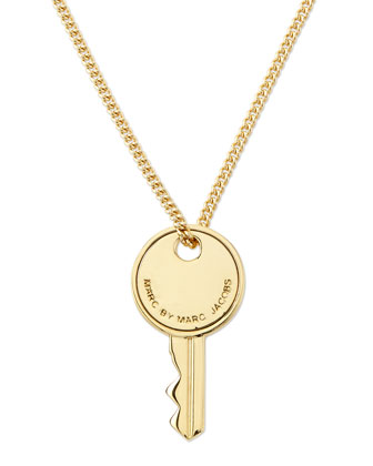 Golden Key Pendant Necklace