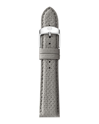 20mm Perforated Leather Strap, Gray