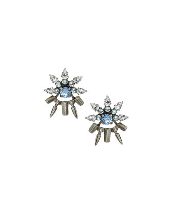 Frida Crystal Jacket Earrings
