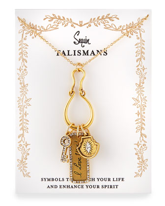 I Love You Talisman Charm Necklace