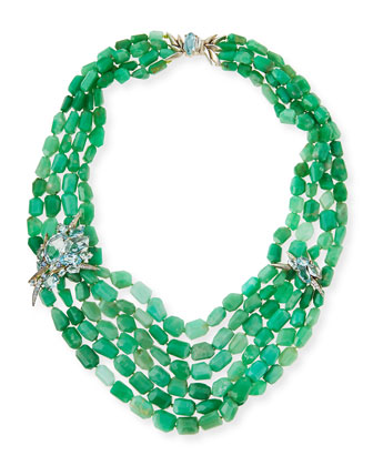Chrysoprase Torsade Beaded Necklace
