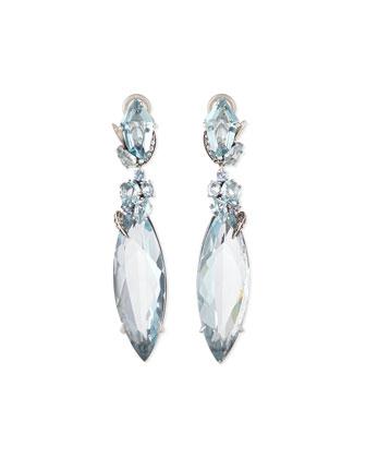 Marquis Sky Quartz Drop Earrings