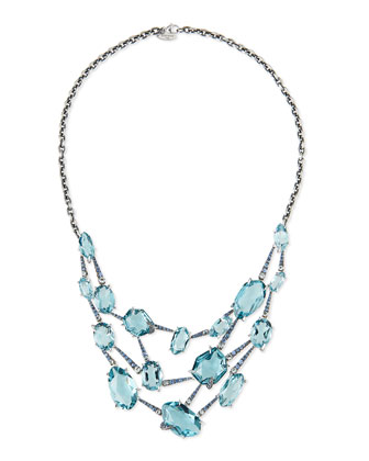 Sky Marquis Quartz Bib Necklace