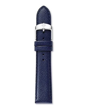 16mm Saffiano Leather Strap, Navy