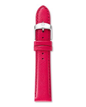 Serein Stainless Diamond Watch Head & 16mm Saffiano Leather Strap
