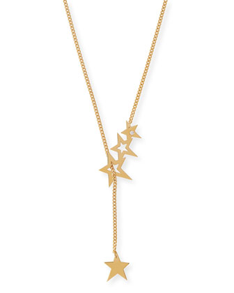 Lake Star Lariat Necklace with Diamond