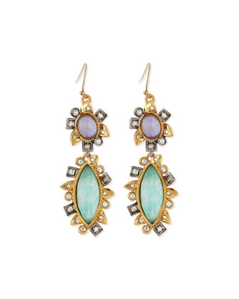 Elements Crystal Doublet Drop Earrings