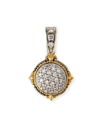 Silver & 18k Gold Diamond Pendant