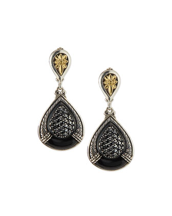 Black Diamond & Onyx Drop Earrings