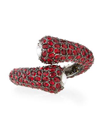 Gunmetal Crystal Hinge Bracelet