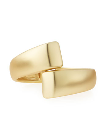 Golden Satin Wrapped Cuff Bracelet