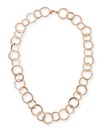 Rose-Golden Circle Link Necklace
