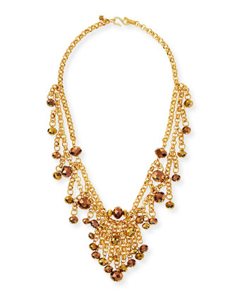 Beaded Golden Chain Necklace