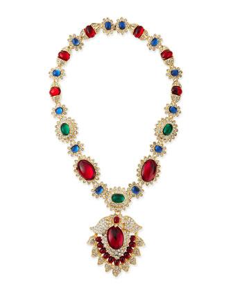 Fancy Gem-Colored Pendant Necklace