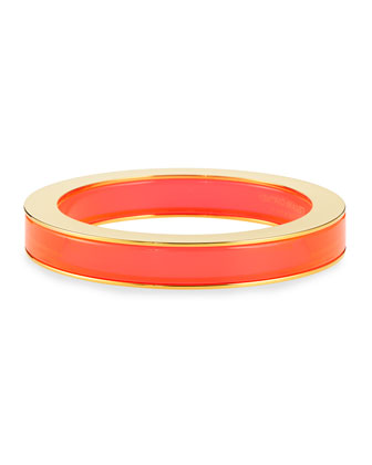Plexi & Metal Bangle, Orange