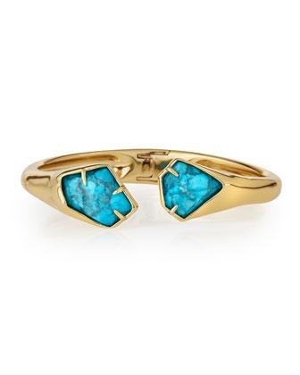 Turquoise Howlite Hinge Bracelet
