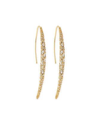 Miss Havisham Crystal Spear Earrings