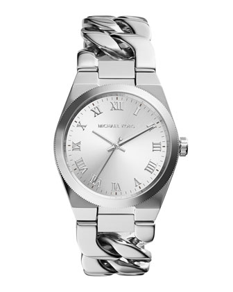 Channing Stainless Steel Chain-Link Watch