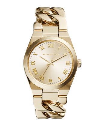 Channing Golden Chain-Link Watch