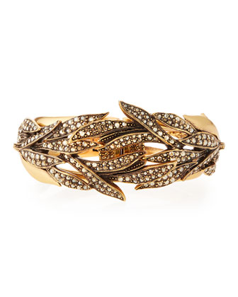 Crystal Spike Hinge Bracelet