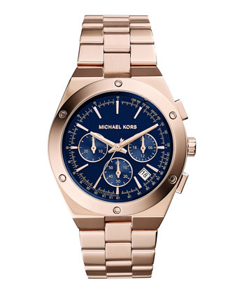 Reagan Rose Golden Stainless Steel Watch
