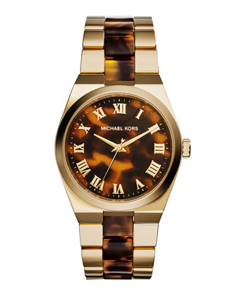 Channing Golden Tortoise-Link Watch